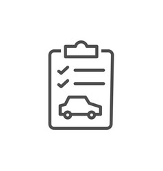car checklist icon vector image
