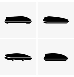 Car roof boxes vector image