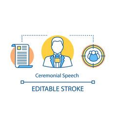 Ceremonial speech concept icon vector