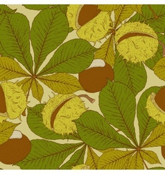Chestnut Seamless Background vector