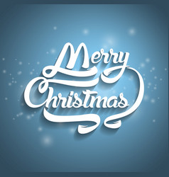 christmas greeting card text merry christmas vector image