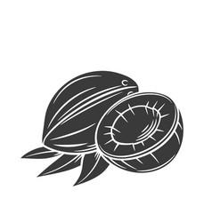 Coconut glyph icon vector