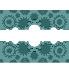 cog wheels background vector image