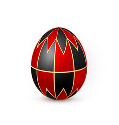 color easter egg on white background design vector image