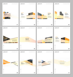 creative brochure templates with architecture vector image