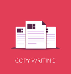 document flat icon copy writing copy documents vector image