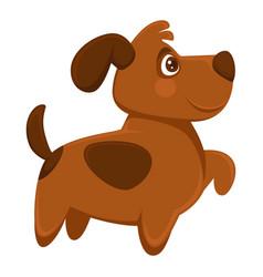 Dog pet cartoon puppy animal flat icon vector
