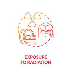 Exposure to radiation concept icon vector
