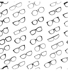 Eyesight glasses with various styles of plastic vector