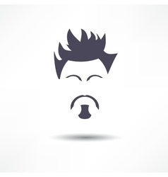 Face of a man with a beard vector