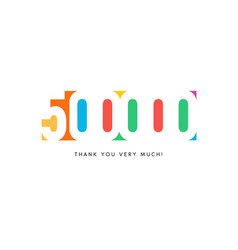 five hundred thousand subscribers baner colorful vector image