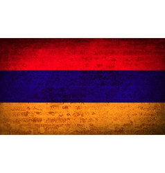 Flags Armenia with dirty paper texture vector image