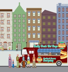Food Truck On The Street vector