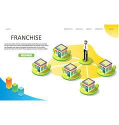 franchise business landing page website vector image