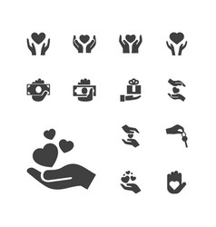 Giving icons vector