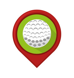 golf sport ball emblem icon vector image