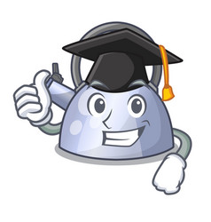 Graduation steel whistling kettle character to vector
