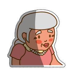 grandmother elder cartoon vector image