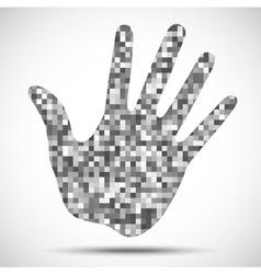 Hand Print Pixel Texture vector image