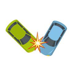 Hard collision icon flat style vector