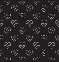 heartbeat dark seamless pattern or vector image