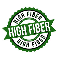 High fiber label or sticker vector