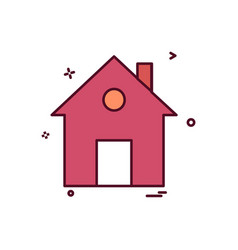 home house flat icon design vector image