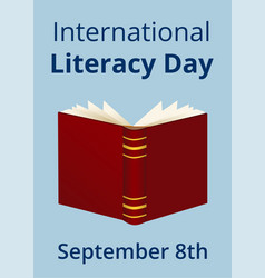 International literacy day vector