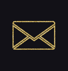 Letter of mail icon with glitter effect isolated vector