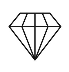 line diamond icon vector image