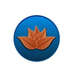 lotus icon logo seal design vector image