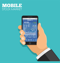 Mobile stock market vector