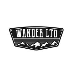 mountain outdoor adventure logo vector image