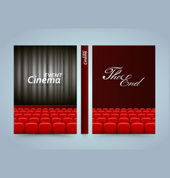 movie cinema premiere poster design banner film vector image