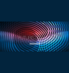neon glowing lines magic energy space blue light vector image