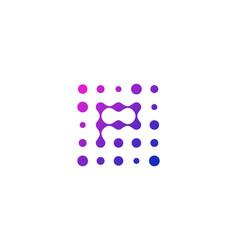 P letter dot logo icon design vector