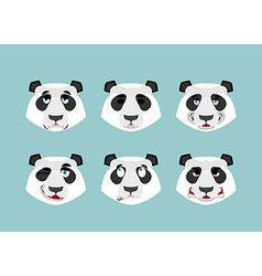 Panda emotion Set expressions avatar Chinese bear vector