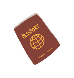 passport red international document travel vector image
