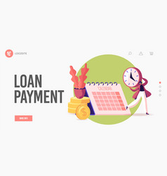 Pay check salary or payroll landing page template vector
