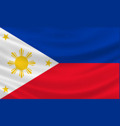 Philippines flag waving in wind vector