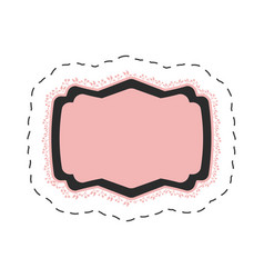 pink label template thin line vector image
