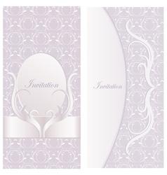 Pink wedding invitation card vector
