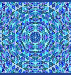 polygonal abstract colorful circular mosaic vector image