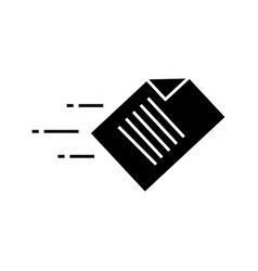 Quick data transfer glyph icon vector