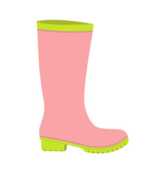 rubber boot icon flat style vector image