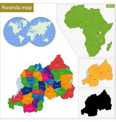 Rwanda map vector image