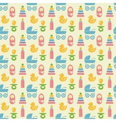 Seamless colored baitems pattern vector