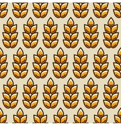 Seamless pattern with wheat Agricultural image vector image