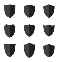set flat shield vector image