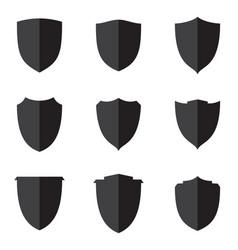 set flat shield vector image